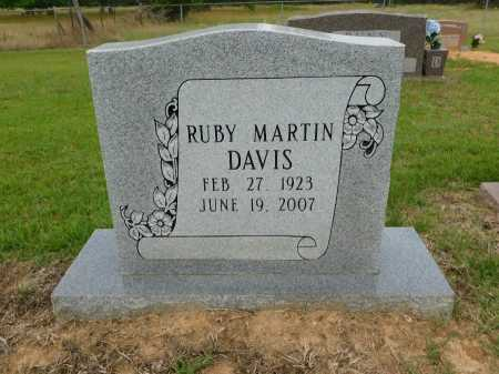 MARTIN DAVIS, RUBY - Calhoun County, Arkansas | RUBY MARTIN DAVIS - Arkansas Gravestone Photos