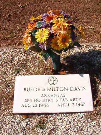 DAVIS (VETERAN), BUFORD MILTON - Calhoun County, Arkansas   BUFORD MILTON DAVIS (VETERAN) - Arkansas Gravestone Photos