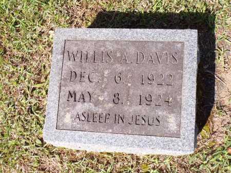 DAVIS, WILLIS A - Calhoun County, Arkansas   WILLIS A DAVIS - Arkansas Gravestone Photos