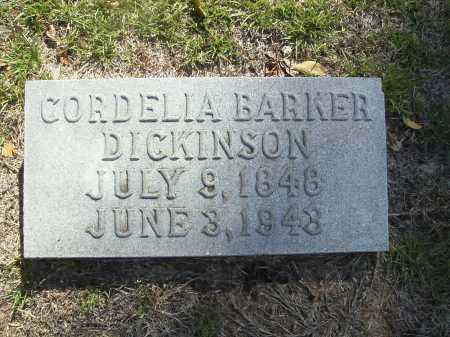 BARKER DICKINSON, CORDELIA - Calhoun County, Arkansas | CORDELIA BARKER DICKINSON - Arkansas Gravestone Photos