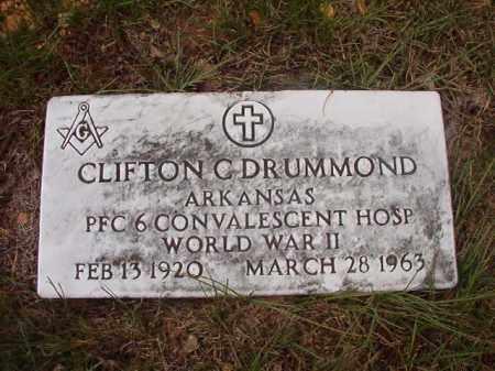 DRUMMOND (VETERAN WWII), CLIFTON C - Calhoun County, Arkansas   CLIFTON C DRUMMOND (VETERAN WWII) - Arkansas Gravestone Photos