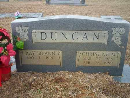 DUNCAN, CHRISTINE M - Calhoun County, Arkansas | CHRISTINE M DUNCAN - Arkansas Gravestone Photos