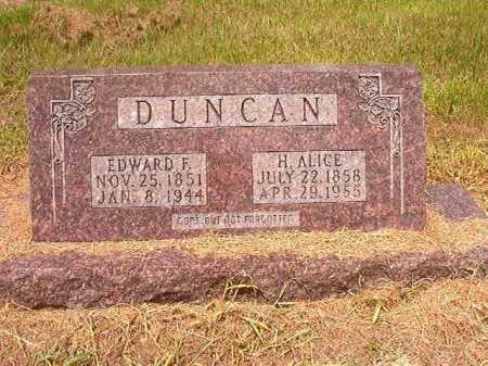 DUNCAN, H ALICE - Calhoun County, Arkansas | H ALICE DUNCAN - Arkansas Gravestone Photos
