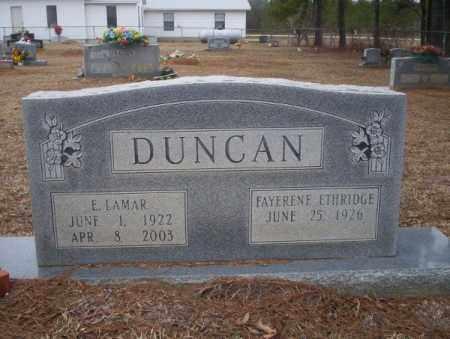 DUNCAN, E LAMAR - Calhoun County, Arkansas   E LAMAR DUNCAN - Arkansas Gravestone Photos