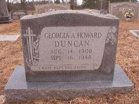HOWARD DUNCAN, GEORGIA A - Calhoun County, Arkansas | GEORGIA A HOWARD DUNCAN - Arkansas Gravestone Photos