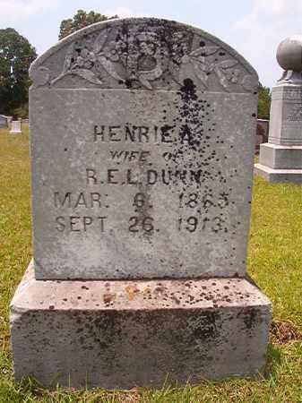 DUNN, HENRIE A - Calhoun County, Arkansas   HENRIE A DUNN - Arkansas Gravestone Photos