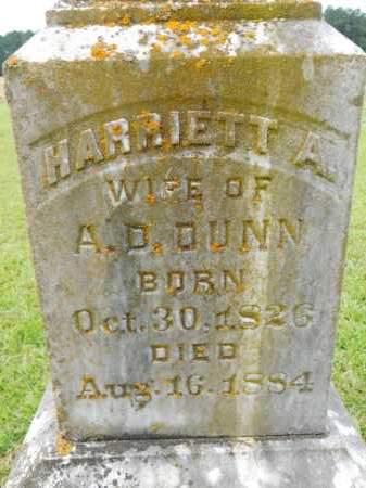 DUNN, HARRIETT A - Calhoun County, Arkansas | HARRIETT A DUNN - Arkansas Gravestone Photos