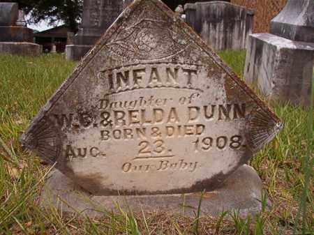 DUNN, INFANT DAUGHTER - Calhoun County, Arkansas | INFANT DAUGHTER DUNN - Arkansas Gravestone Photos