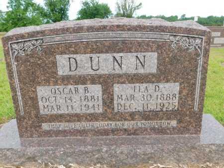 DUNN, OSCAR B - Calhoun County, Arkansas   OSCAR B DUNN - Arkansas Gravestone Photos