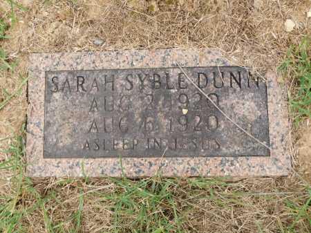 DUNN, SARAH SYBLE - Calhoun County, Arkansas | SARAH SYBLE DUNN - Arkansas Gravestone Photos