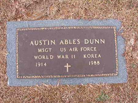 DUNN (VETERAN 2 WARS), AUSTIN ABLES - Calhoun County, Arkansas | AUSTIN ABLES DUNN (VETERAN 2 WARS) - Arkansas Gravestone Photos