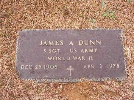 DUNN (VETERAN WWII), JAMES A - Calhoun County, Arkansas | JAMES A DUNN (VETERAN WWII) - Arkansas Gravestone Photos