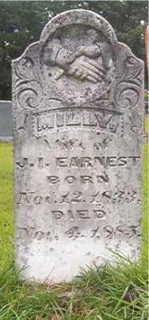 EARNEST, MILLY - Calhoun County, Arkansas   MILLY EARNEST - Arkansas Gravestone Photos