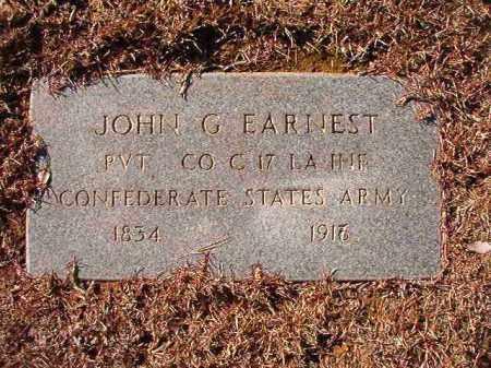 EARNEST (VETERAN CSA), JOHN G - Calhoun County, Arkansas | JOHN G EARNEST (VETERAN CSA) - Arkansas Gravestone Photos
