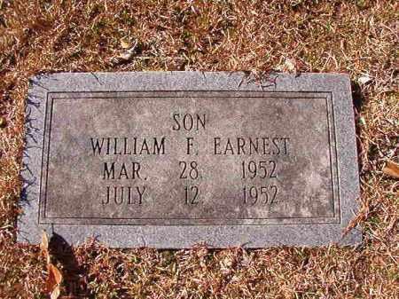 EARNEST, WILLIAM F - Calhoun County, Arkansas   WILLIAM F EARNEST - Arkansas Gravestone Photos