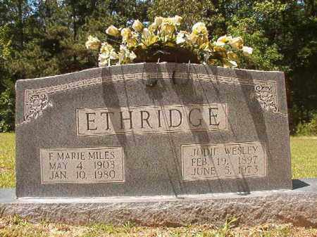 ETHRIDGE, F MARIE - Calhoun County, Arkansas | F MARIE ETHRIDGE - Arkansas Gravestone Photos
