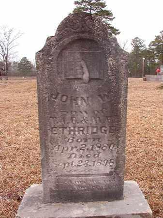 ETHRIDGE, JOHN W - Calhoun County, Arkansas | JOHN W ETHRIDGE - Arkansas Gravestone Photos