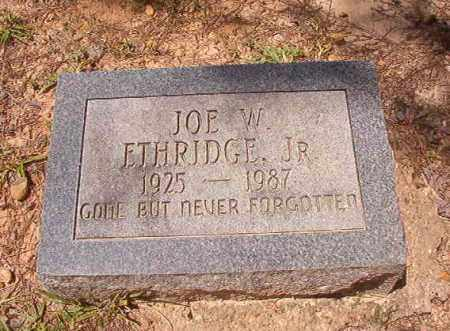 ETHRIDGE, JR, JOE W - Calhoun County, Arkansas   JOE W ETHRIDGE, JR - Arkansas Gravestone Photos