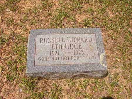 ETHRIDGE, RUSSELL HOWARD - Calhoun County, Arkansas   RUSSELL HOWARD ETHRIDGE - Arkansas Gravestone Photos