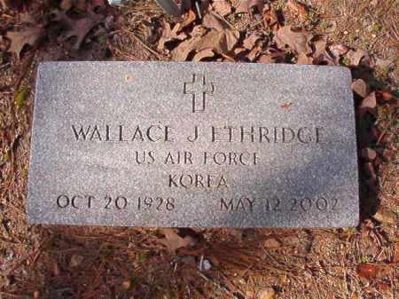 ETHRIDGE (VETERAN KOR), WALLACE J - Calhoun County, Arkansas   WALLACE J ETHRIDGE (VETERAN KOR) - Arkansas Gravestone Photos