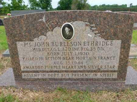 ETHRIDGE (VETERAN WWII KIA), JOHN BURLESON - Calhoun County, Arkansas   JOHN BURLESON ETHRIDGE (VETERAN WWII KIA) - Arkansas Gravestone Photos