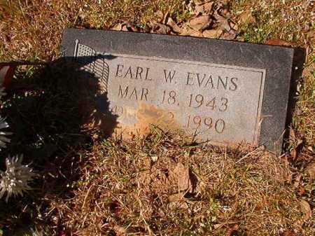 EVANS, EARL W - Calhoun County, Arkansas | EARL W EVANS - Arkansas Gravestone Photos