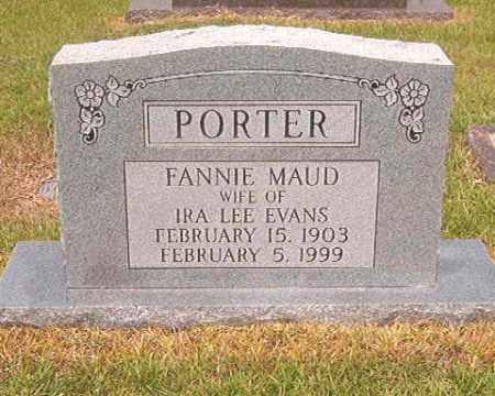 PORTER EVANS, FANNIE MAUD - Calhoun County, Arkansas   FANNIE MAUD PORTER EVANS - Arkansas Gravestone Photos