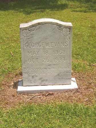 EVANS, GEORGE W - Calhoun County, Arkansas   GEORGE W EVANS - Arkansas Gravestone Photos