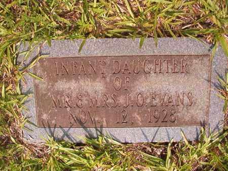 EVANS, INFANT DAUGHTER - Calhoun County, Arkansas | INFANT DAUGHTER EVANS - Arkansas Gravestone Photos