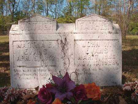 EVANS, MARTHA E - Calhoun County, Arkansas | MARTHA E EVANS - Arkansas Gravestone Photos