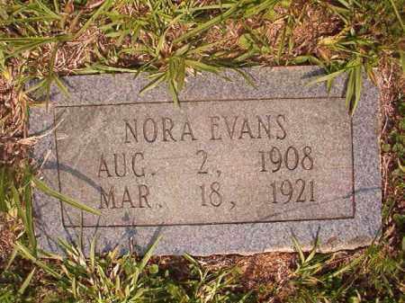 EVANS, NORA - Calhoun County, Arkansas   NORA EVANS - Arkansas Gravestone Photos