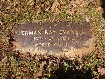 EVANS, SR (VETERAN WWII), HERMAN RAY - Calhoun County, Arkansas | HERMAN RAY EVANS, SR (VETERAN WWII) - Arkansas Gravestone Photos