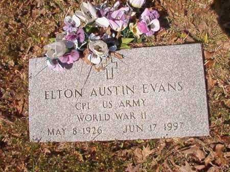 EVANS (VETERAN WWII), ELTON AUSTIN - Calhoun County, Arkansas | ELTON AUSTIN EVANS (VETERAN WWII) - Arkansas Gravestone Photos