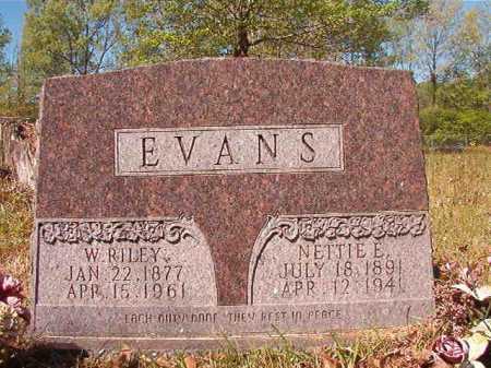 EVANS, NETTIE E - Calhoun County, Arkansas | NETTIE E EVANS - Arkansas Gravestone Photos