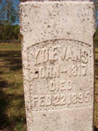 EVANS, Y D - Calhoun County, Arkansas   Y D EVANS - Arkansas Gravestone Photos