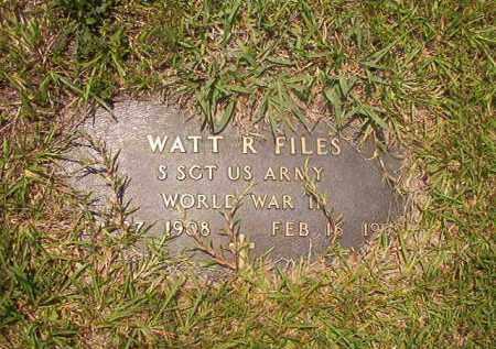 FILES (VETERAN WWII), WATT RUSSELL - Calhoun County, Arkansas | WATT RUSSELL FILES (VETERAN WWII) - Arkansas Gravestone Photos