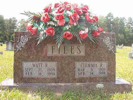 FILES, WATT RUSSELL - Calhoun County, Arkansas | WATT RUSSELL FILES - Arkansas Gravestone Photos