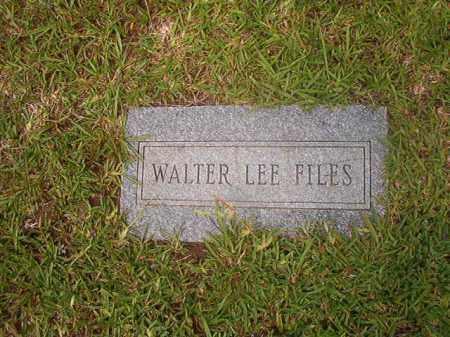 FILES, WALTER LEE - Calhoun County, Arkansas | WALTER LEE FILES - Arkansas Gravestone Photos