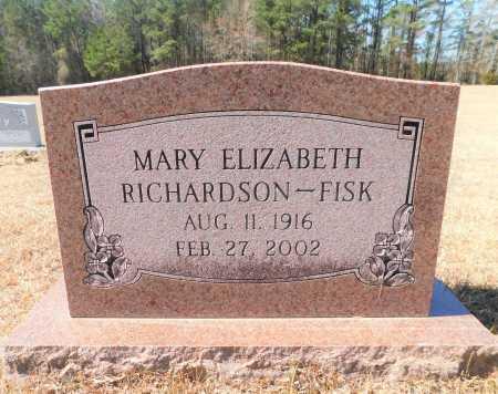 RICHARDSON FISK, MARY ELIZABETH - Calhoun County, Arkansas | MARY ELIZABETH RICHARDSON FISK - Arkansas Gravestone Photos
