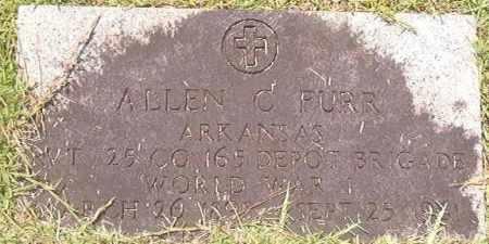 FURR (VETERAN WWI), ALLEN C - Calhoun County, Arkansas | ALLEN C FURR (VETERAN WWI) - Arkansas Gravestone Photos