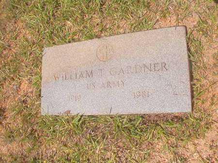GARDNER (VETERAN), WILLIAM T - Calhoun County, Arkansas | WILLIAM T GARDNER (VETERAN) - Arkansas Gravestone Photos