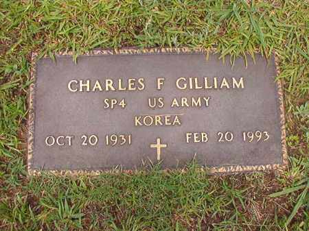 GILLIAM (VETERAN KOR), CHARLES F - Calhoun County, Arkansas   CHARLES F GILLIAM (VETERAN KOR) - Arkansas Gravestone Photos