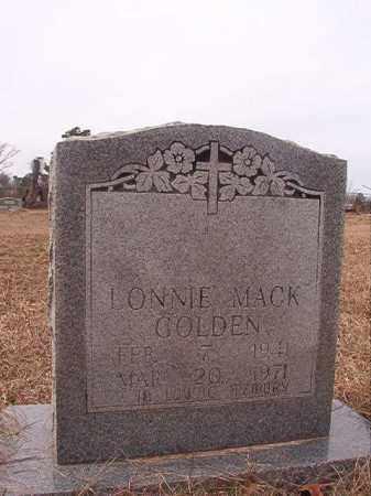 GOLDEN, LONNIE MACK - Calhoun County, Arkansas   LONNIE MACK GOLDEN - Arkansas Gravestone Photos