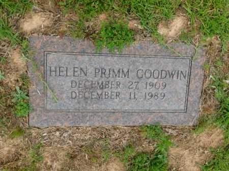 PRIMM GOODWIN, HELEN - Calhoun County, Arkansas | HELEN PRIMM GOODWIN - Arkansas Gravestone Photos