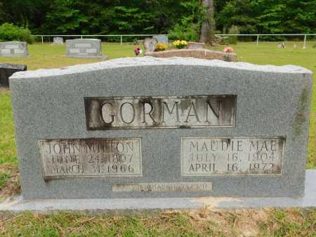 GORMAN, JOHN MILTON - Calhoun County, Arkansas   JOHN MILTON GORMAN - Arkansas Gravestone Photos