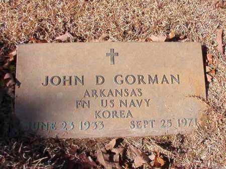 GORMAN (VETERAN KOR), JOHN D - Calhoun County, Arkansas   JOHN D GORMAN (VETERAN KOR) - Arkansas Gravestone Photos