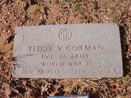 GORMAN (VETERAN WWII), TEDDY V - Calhoun County, Arkansas | TEDDY V GORMAN (VETERAN WWII) - Arkansas Gravestone Photos