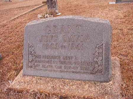 GRANT, JEFF DAVIS - Calhoun County, Arkansas | JEFF DAVIS GRANT - Arkansas Gravestone Photos