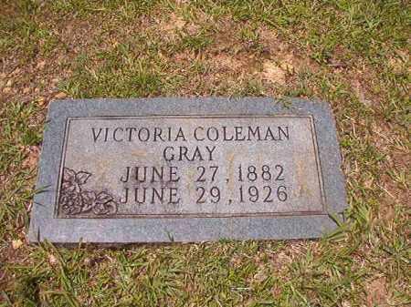COLEMAN GRAY, VICTORIA - Calhoun County, Arkansas   VICTORIA COLEMAN GRAY - Arkansas Gravestone Photos