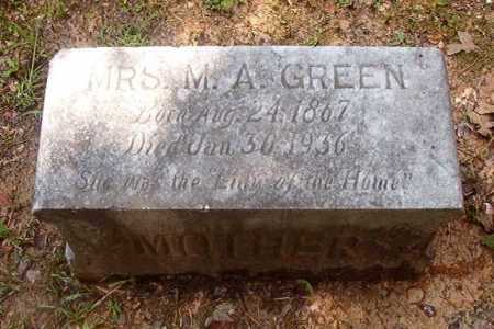 GREEN, MRS, M A - Calhoun County, Arkansas | M A GREEN, MRS - Arkansas Gravestone Photos